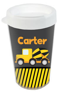 Construction Truck Clear Acrylic Tumbler