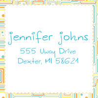 Abstract Citrus Return Address Label