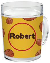 Basketball Fan Clear Acrylic Mug