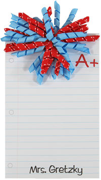A Plus Teacher Korker Bow Notepad