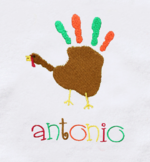 Finger Paint Turkey Onesie