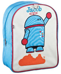 Alexander Robot Small Embroidered Backpack