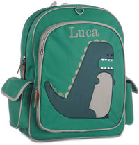 Dino Large Embroidered Backpack