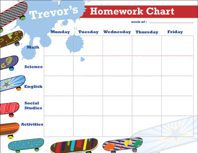Designs personalized Weekly Planner Pad, Chore Chart or Homework Chart ...