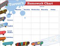 Cool Skateboards Homework Chart