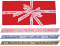 "7/8"" Textured Dotted Personalized Ribbons"