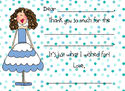 Blue Dots Fill-in Flat Note Card