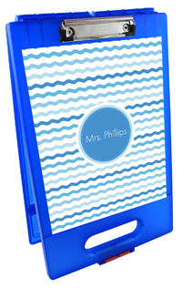Blue Waves Clipboard Storage Case