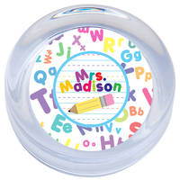 Crazy Alphabet Paperweight