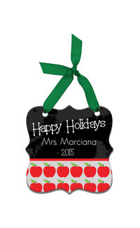 Chalkboard Wishes Acrylic Ornament