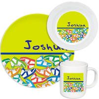 Colorful Sneakers Melamine Set