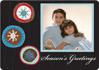 Blue Ornaments Foldover Card