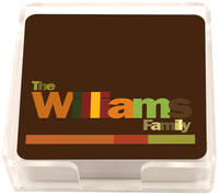 All Family Brown Coasters
