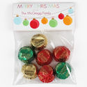 Holiday Bulbs Candy Bag Toppers