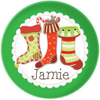 Holiday Stockings Plate