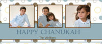 Blue Dot Chanukah Card