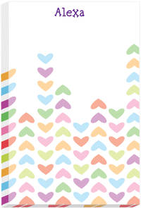 Lined Hearts Note Pad