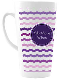 Purple Waves Ceramic Coffee Mug