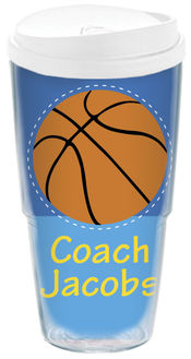 Basketball Coach Acrylic Travel Cup