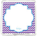 Blue Frame Chevron Mini Memo Sheets