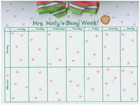 Teacher Apple Heart Bow Calendar