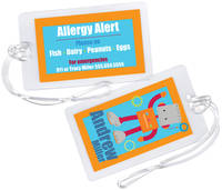 Robot Guy Allergy Alert Tag