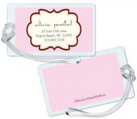 Chocolate Pink Frame Luggage Tag