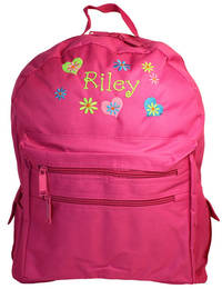 Heart and Flowers Embroidered Backpack