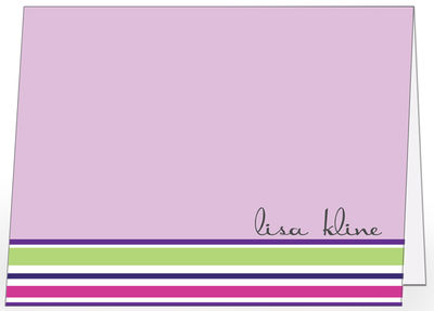 Stripes Lavender Foldover Card
