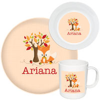 Fall Fox Melamine Set