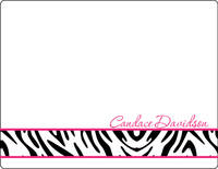 Hot Pink Zebra Note Card