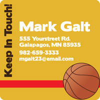 Basketball Fan Calling Card