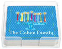 Abstract Menorah Coasters