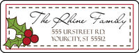 Holly Jolly Return Address Label
