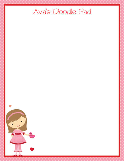 Be Mine Girl Doodle Pad