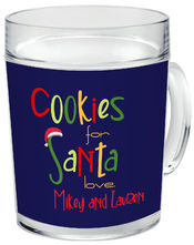 Cookies For Santa Acrylic Mug
