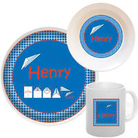 Paper Airplane Melamine Set