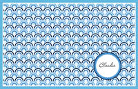 Azul Waves Paper Placemats