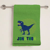 Dino Green Bath Towel
