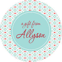 Abstract Floral Gift Stickers