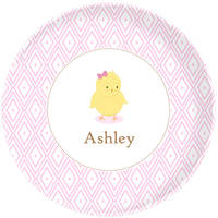 Blushing Chickie Girl Plate