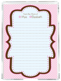 Chocolate Pink Frame Mom Memo Sheets