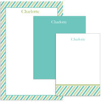 Green Teal Stripes Pad Set
