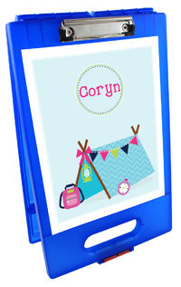 Camper Girl Clipboard Storage Case
