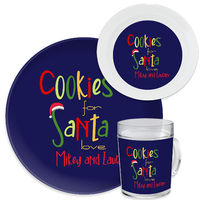 Cookies For Santa Dinnerware Set