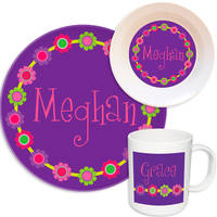 Bright Daisies Melamine Set