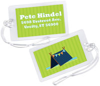 Blue Tent Luggage Tag