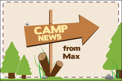 This Way to Camp Postcard