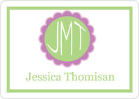 Flower Monogram Calling Card