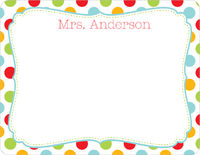 Dots and Frames Note Card